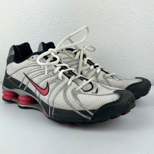 NIKE Shox Pink White Black Cushion Sneakers 9.5